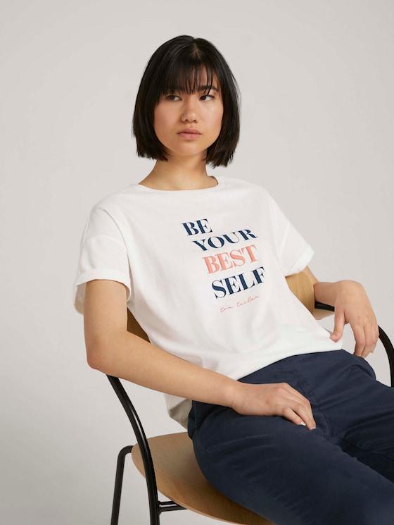 T-Shirt mit Print - Frauen - Whisper White - 5 - TOM TAILOR