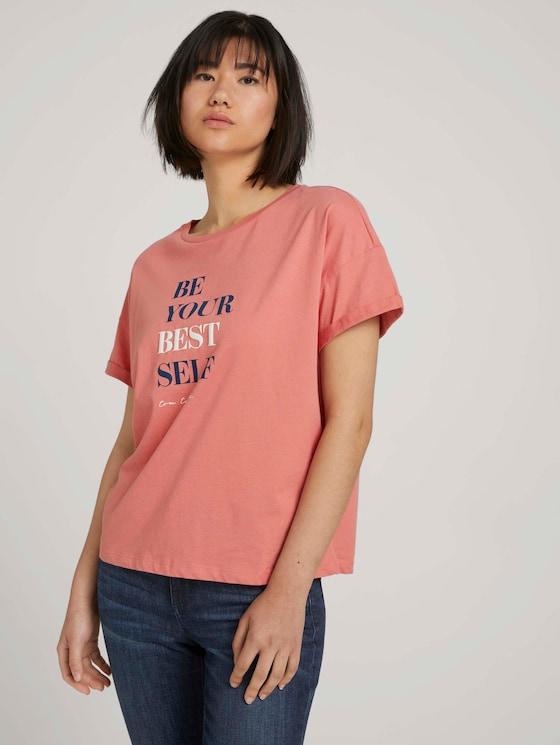 T-shirt met print - Vrouwen - dusty pastel pink - 5 - TOM TAILOR