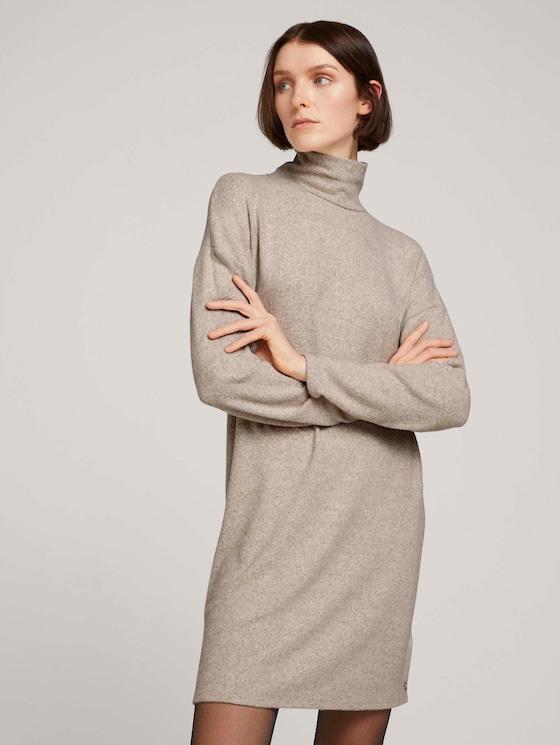 Kleid mit Rollkragen - Frauen - cozy beige melange - 5 - TOM TAILOR Denim