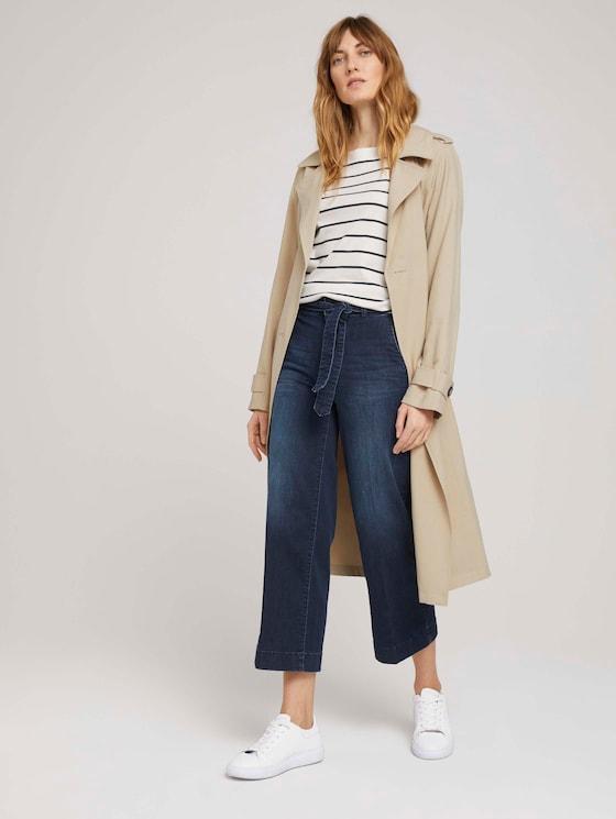 Culotte Jeans mit Stretch - Frauen - dark blue denim - 3 - TOM TAILOR