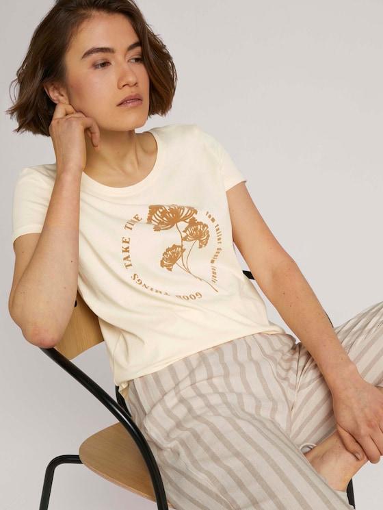 T-Shirt mit Print - Frauen - soft creme beige - 5 - TOM TAILOR Denim