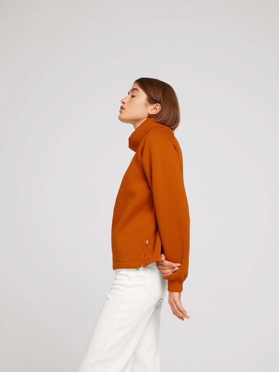 Long-sleeved shirt made of sustainable cotton - Women - gold flame orange - 5 - TOM TAILOR Denim