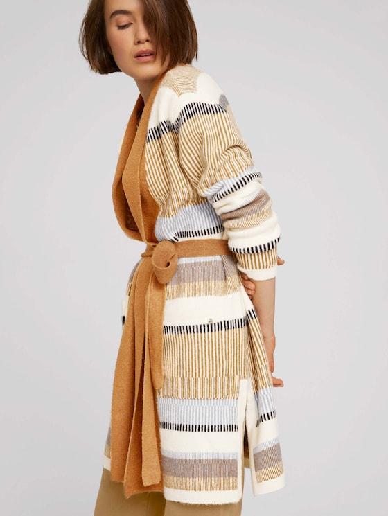 Striped cardigan - Women - patchwork stripe structure - 5 - TOM TAILOR Denim