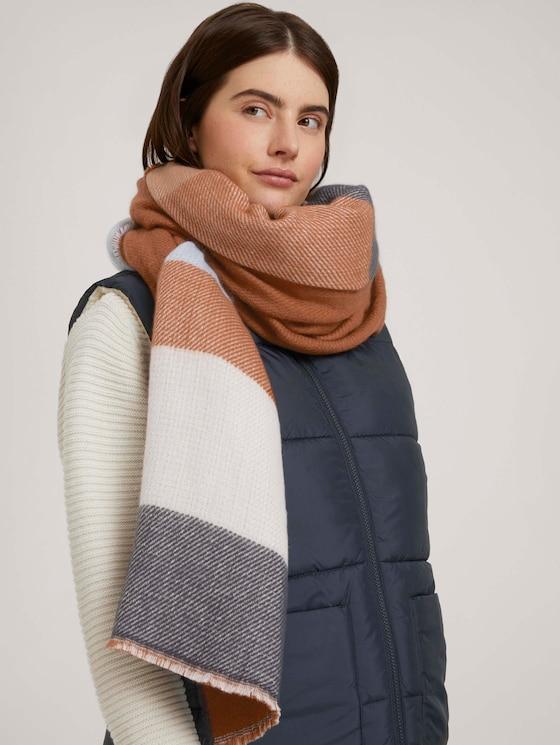 Fringed scarf - Women - multicolor stripe - 5 - TOM TAILOR Denim