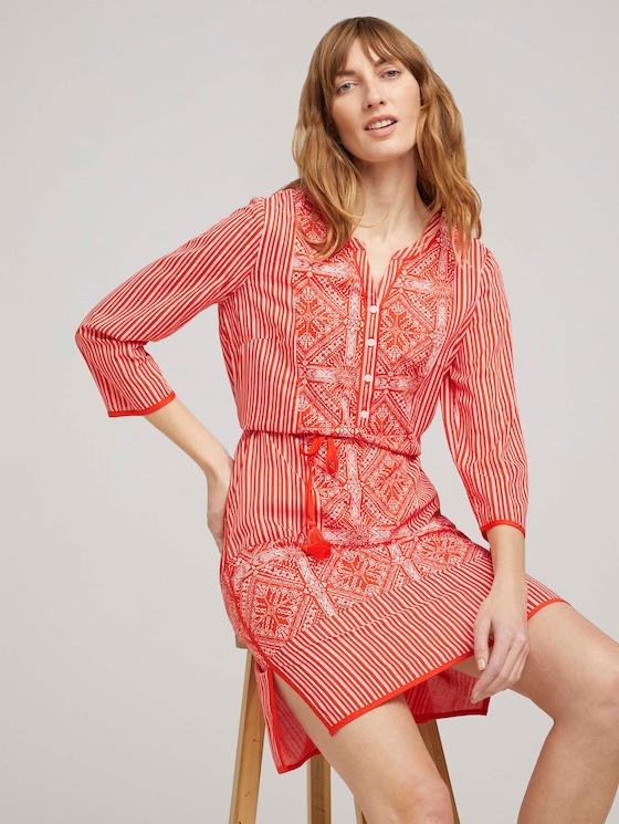 Gemustertes Tunika Kleid - Frauen - red white ethno design - 5 - TOM TAILOR