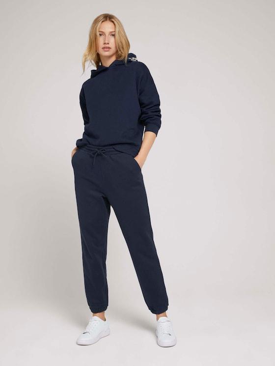 Relaxed Jogginghose mit Bio-Baumwolle - Frauen - Sky Captain Blue - 3 - TOM TAILOR Denim