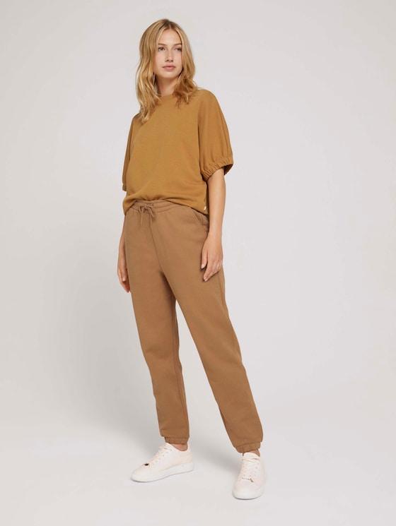 Relaxed Jogginghose mit Bio-Baumwolle - Frauen - soft camel - 3 - TOM TAILOR Denim