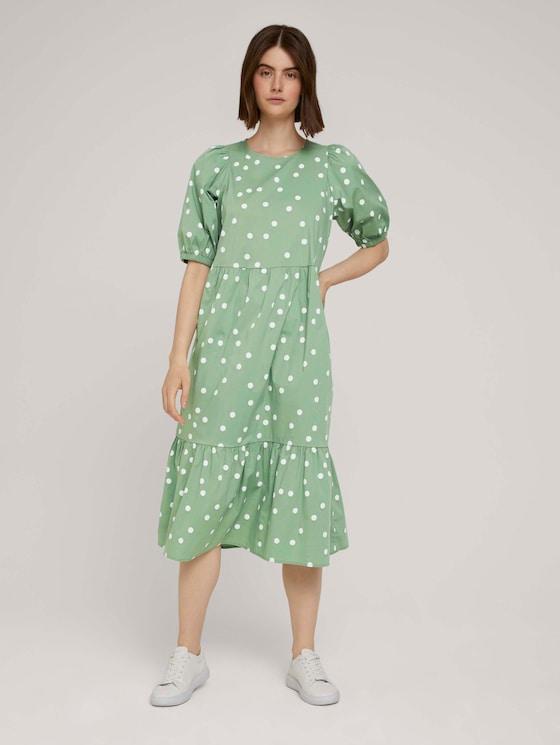 dotted midi dress - Women - green dot print - 5 - TOM TAILOR Denim