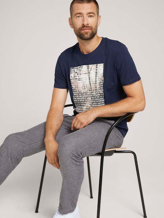T-shirt with a photo print made of organic cotton - Men - Sky Captain Blue - 5 - TOM TAILOR