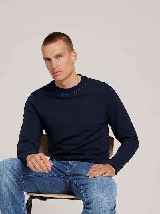 basic sweatshirt - Mannen - Sky Captain Blue - 5 - TOM TAILOR