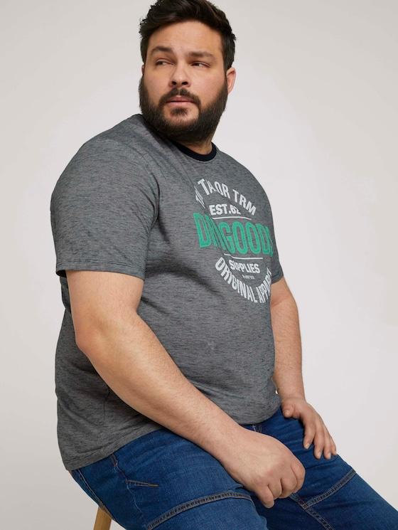 gestreiftes T-Shirt - Männer - dark blue fine stripe - 5 - Men Plus