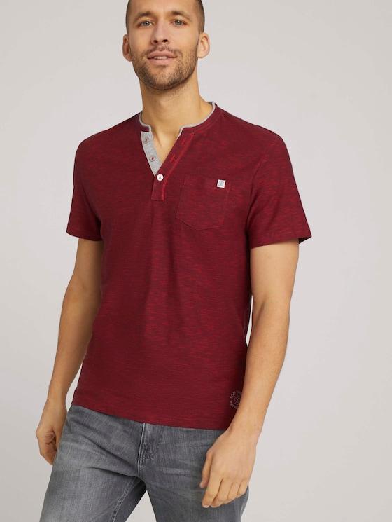 Doppelpack T-Shirt mit Streifen - Männer - cyber grey yarndye stripe - 5 - TOM TAILOR