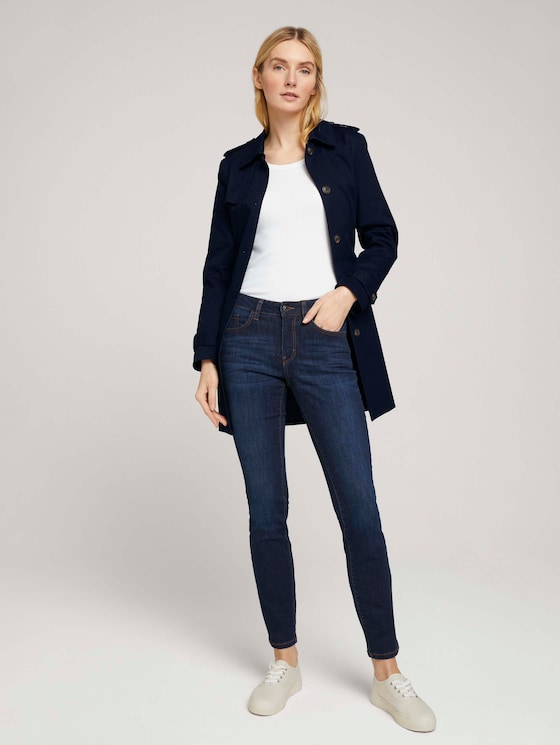 Alexa Slim Stretch Jeans mit Bio-Baumwolle - Frauen - Rinsed Blue Denim - 3 - TOM TAILOR