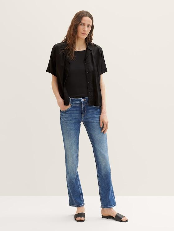 Alexa Straight Jeans mit Stretch - Frauen - mid stone wash denim - 3 - TOM TAILOR