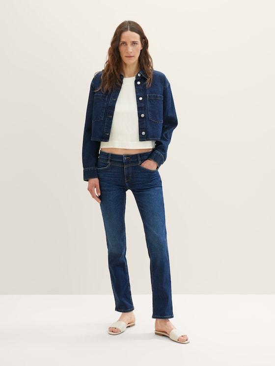 Alexa Straight Jeans mit Stretch - Frauen - dark stone wash denim - 3 - TOM TAILOR