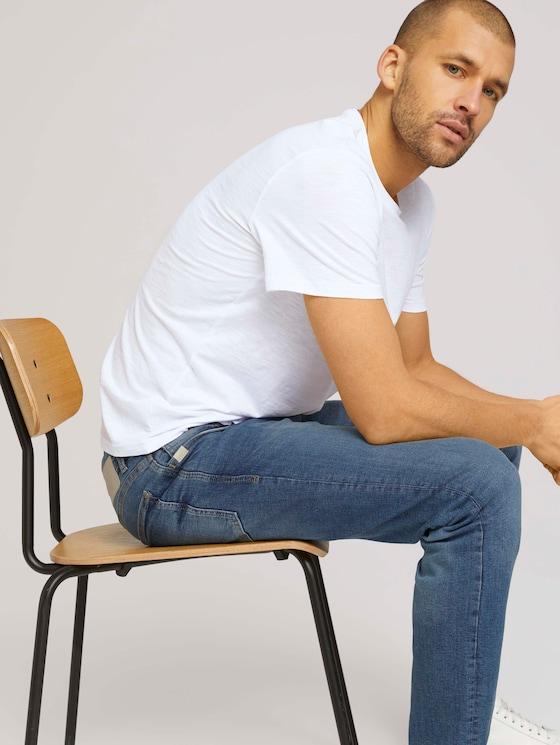 Basic T-Shirt - Männer - White - 5 - TOM TAILOR