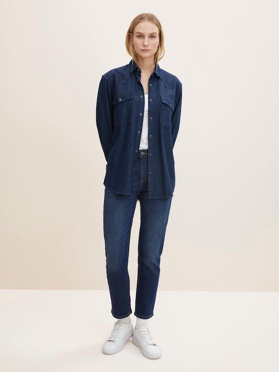 Alexa Slim Jeans - Frauen - Rinsed Blue Denim - 3 - TOM TAILOR