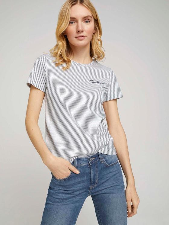 Doppelpack T-Shirt mit Bio-Baumwolle - Frauen - Sky Captain Blue - 5 - TOM TAILOR