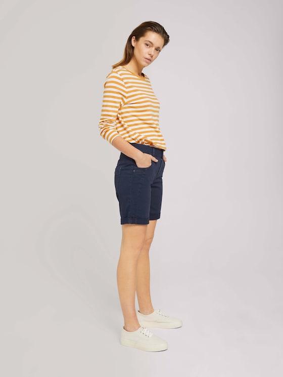 Lina Bermuda Shorts - Frauen - Real Navy Blue - 3 - TOM TAILOR Denim