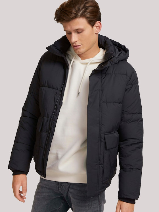 Puffer jacket with recycled polyester - Men - Black - 5 - TOM TAILOR Denim