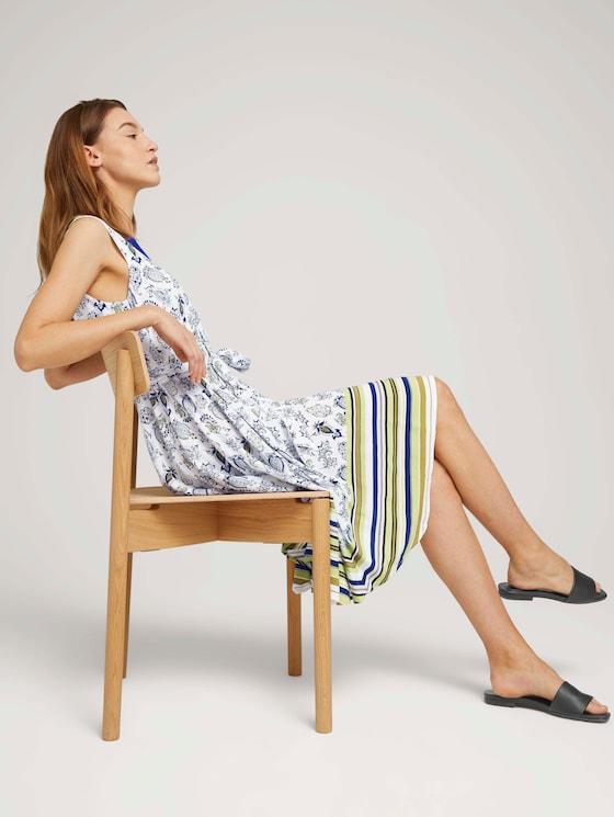 Gemustertes Tuchkleid mit Print - Frauen - offwhite paisley design - 5 - TOM TAILOR