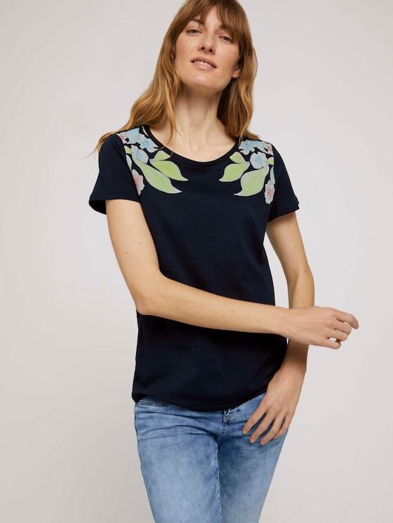 T-Shirt aus Bio-Baumwolle - Frauen - Sky Captain Blue - 5 - TOM TAILOR