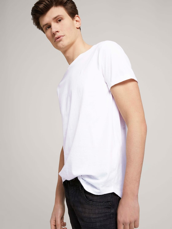 Basic T-Shirts im Siebenerpack - Männer - White - 5 - TOM TAILOR Denim