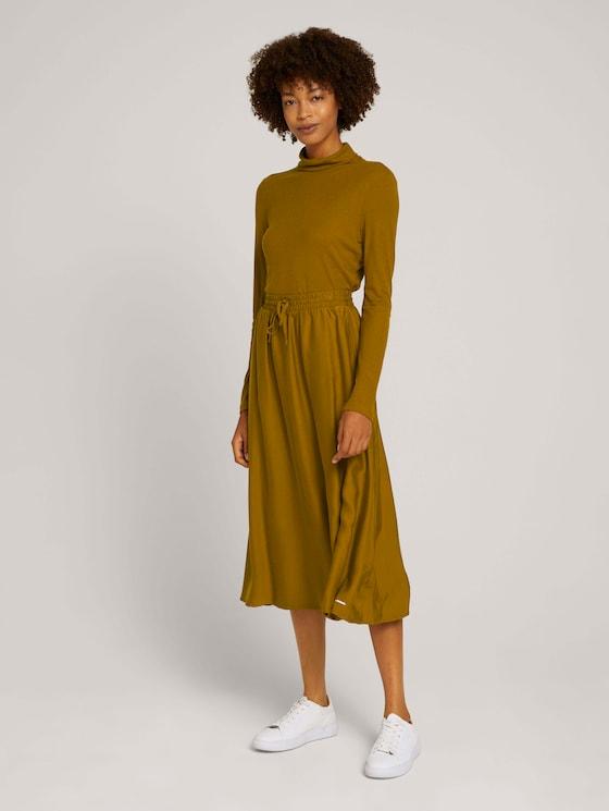 Basic maxi skirt - Women - green clay - 3 - Mine to five