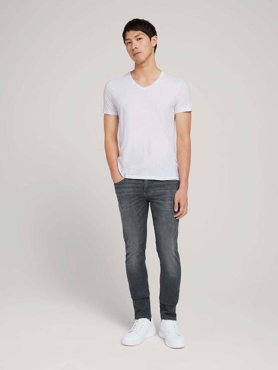 slim Piers jeans with organic cotton - Men - used dark stone grey denim - 3 - TOM TAILOR Denim