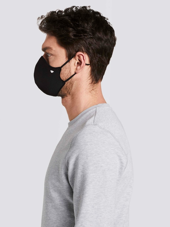Stoffmaske im Doppelpack - Männer - Black - 5 - Tom Tailor E-Shop Kollektion