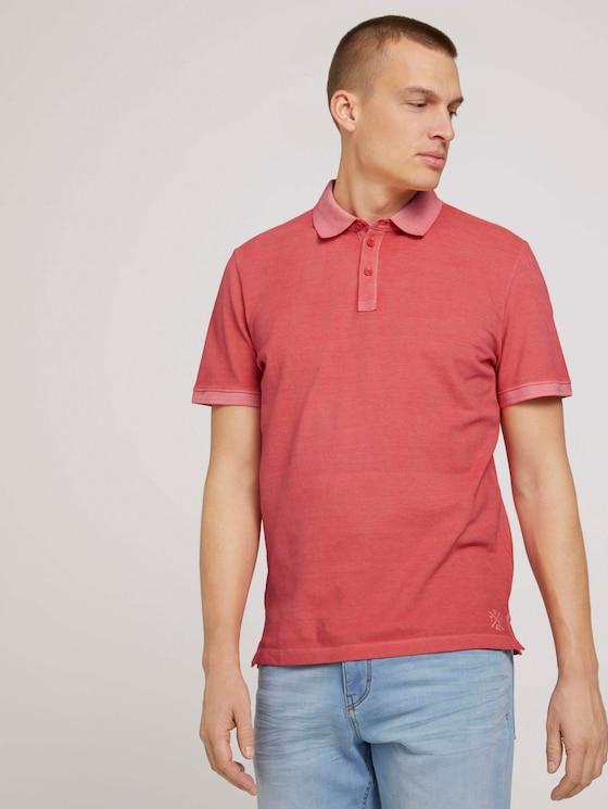 Poloshirt in leichter Waschung - Männer - Plain Red - 5 - TOM TAILOR