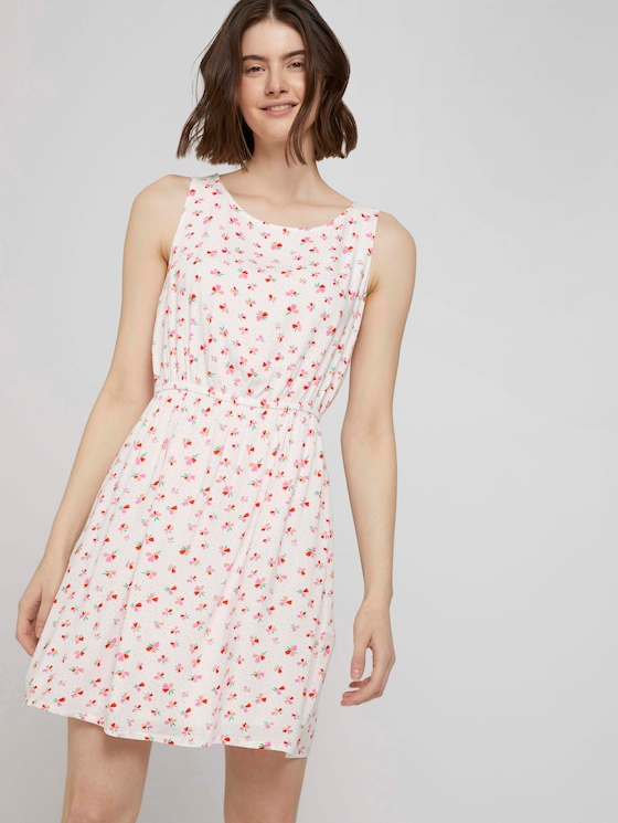 Ärmelloses Minikleid mit Blumenmuster - Frauen - light flower print - 5 - TOM TAILOR Denim