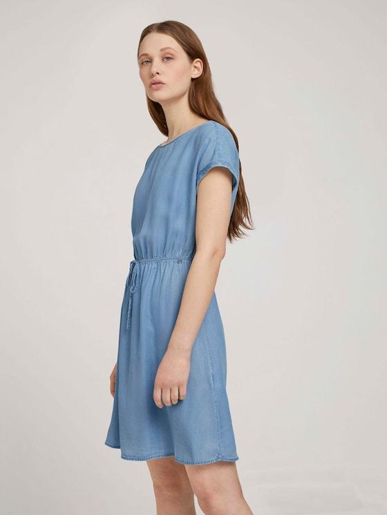 Mini Jeanskleid mit TENCEL™ Lyocell - Frauen - light stone bright blue denim - 5 - TOM TAILOR Denim