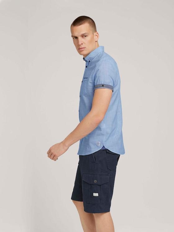geruit overhemd - Mannen - Brilliant Blue Pint Stripe - 5 - TOM TAILOR