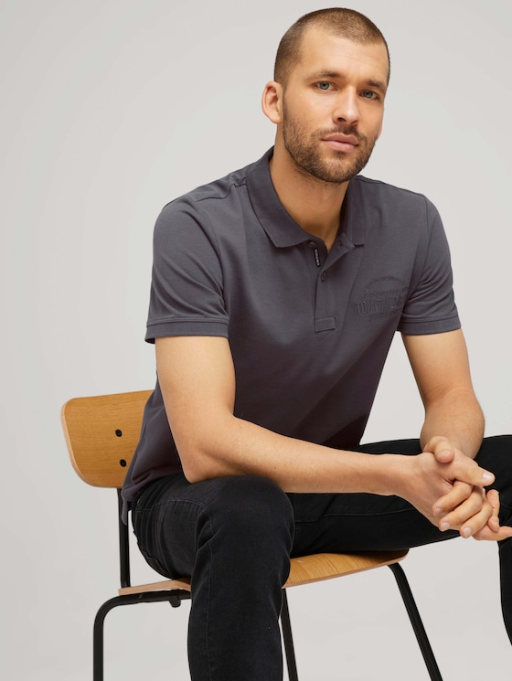 Poloshirt met logo - Mannen - Tarmac Grey - 5 - TOM TAILOR