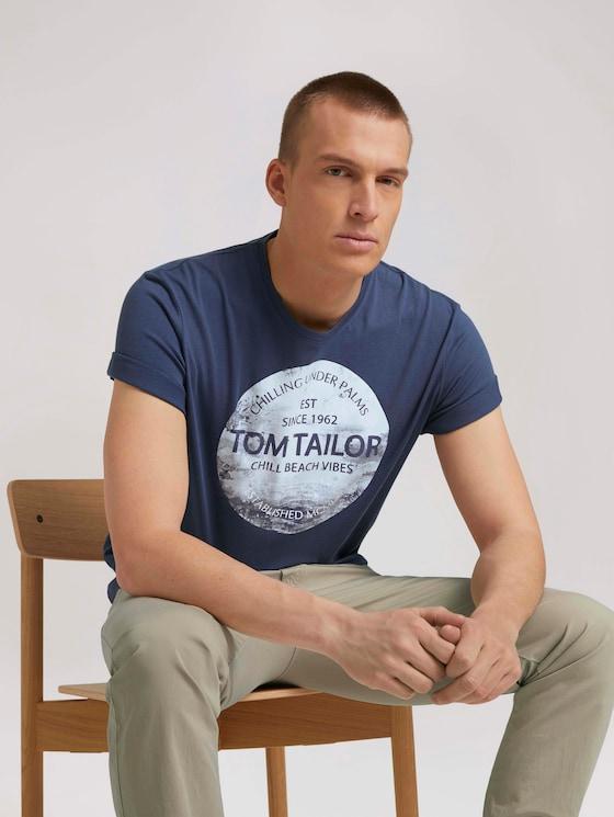 T-Shirt mit Print - Männer - light indigo blue - 5 - TOM TAILOR