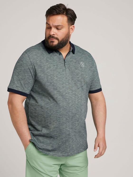 gestreiftes Poloshirt - Männer - blue mint yarn dye stripe - 5 - Men Plus