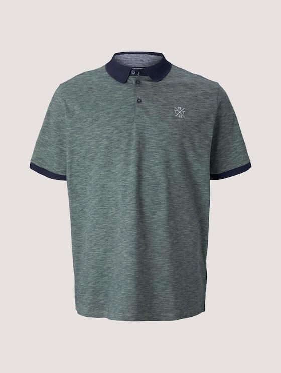 gestreiftes Poloshirt - Männer - blue mint yarn dye stripe - 7 - Men Plus