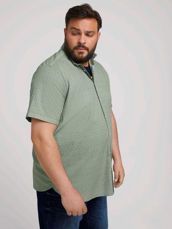 gemustertes Hemd - Männer - green navy minimal design - 5 - Men Plus