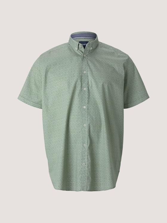gemustertes Hemd - Männer - green navy minimal design - 7 - Men Plus