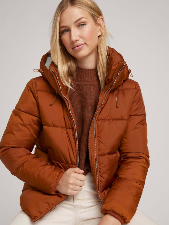 Puffer jacket with recycled polyester - Women - amber brown - 5 - TOM TAILOR Denim