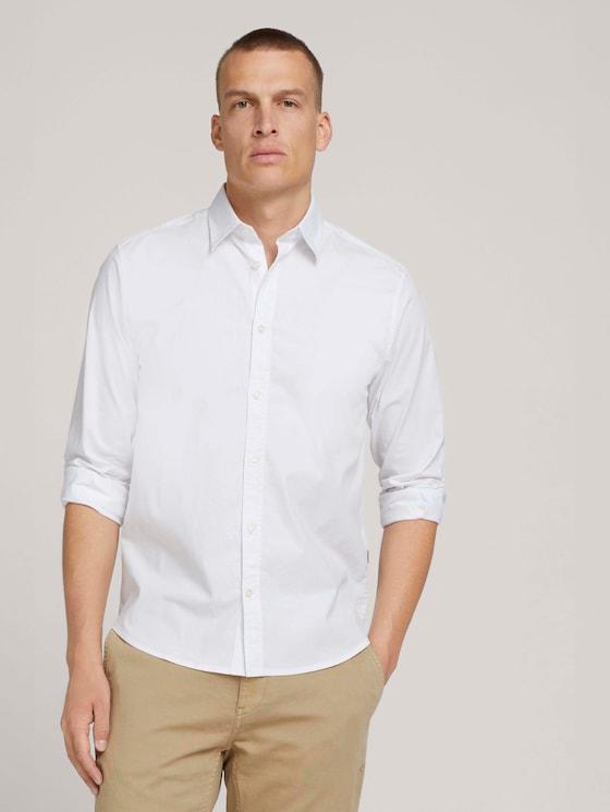 basic popeline overhemd - Mannen - White - 5 - TOM TAILOR