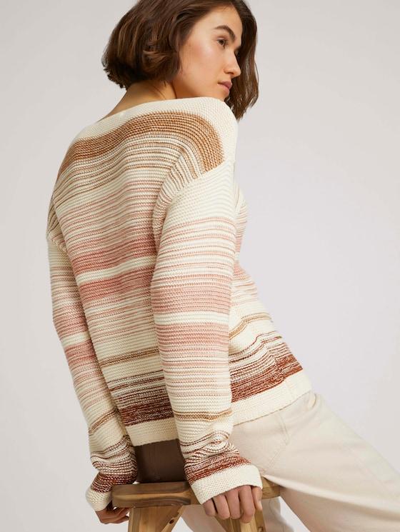 gestreepte trui - Vrouwen - camel rose colourflow - 5 - TOM TAILOR Denim