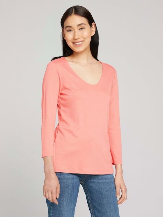 Basic 3/4 Arm Shirt mit TENCEL™ Modal - Frauen - dusty-pastel-pink - 5 - TOM TAILOR