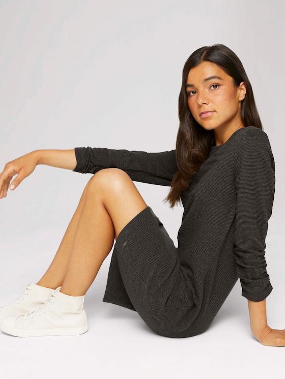 Mini Kleid in Melange-Optik - Frauen - Shale Grey Melange - 5 - TOM TAILOR Denim