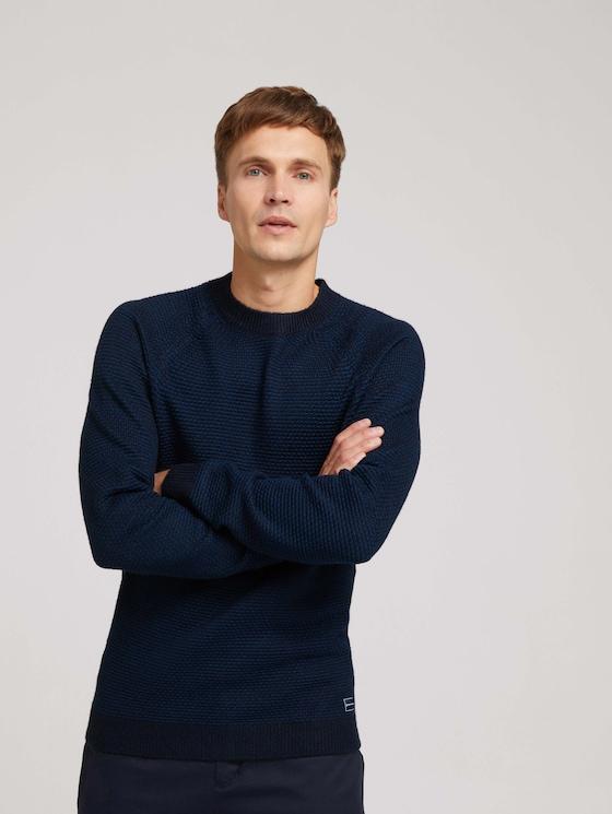 Knitted jumper - Men - navy blue stripe - 5 - TOM TAILOR