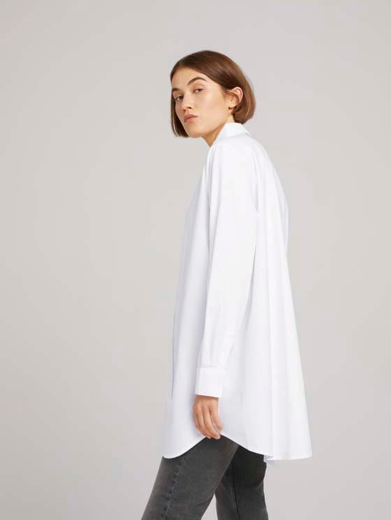 Sustainable cotton shirt - Women - White - 5 - TOM TAILOR Denim
