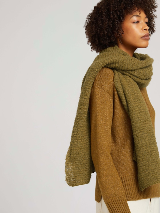 Long scarf with REPREVE - Women - khaki olive - 5 - TOM TAILOR