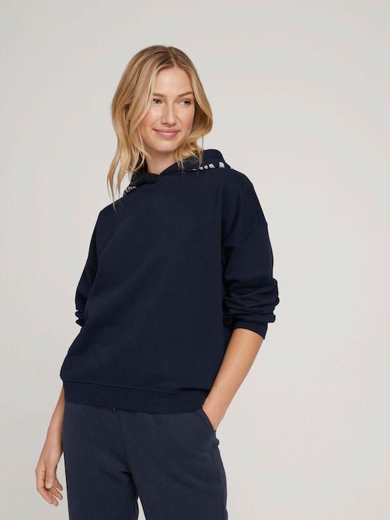 Organic cotton sweatshirt - Women - Sky Captain Blue - 5 - TOM TAILOR Denim
