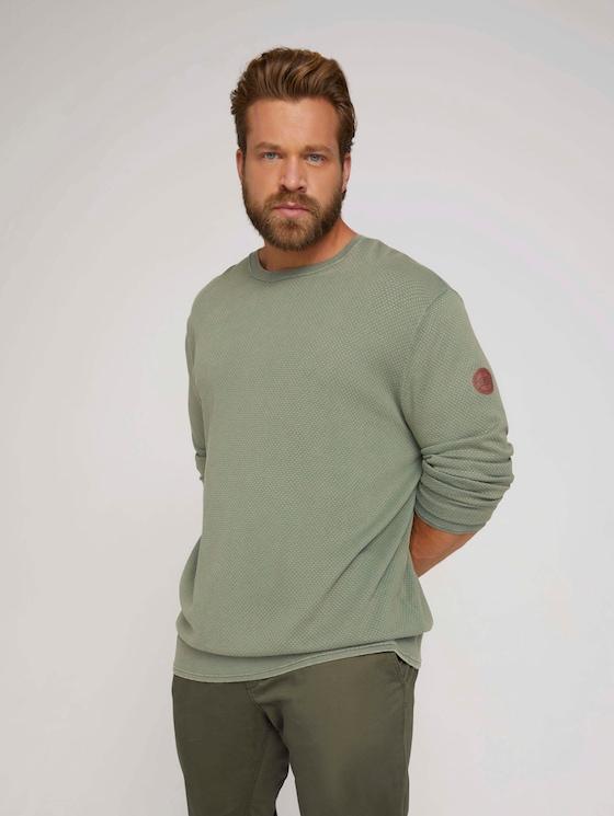 textured sweater - Men - Oak Leaf Green - 5 - Men Plus